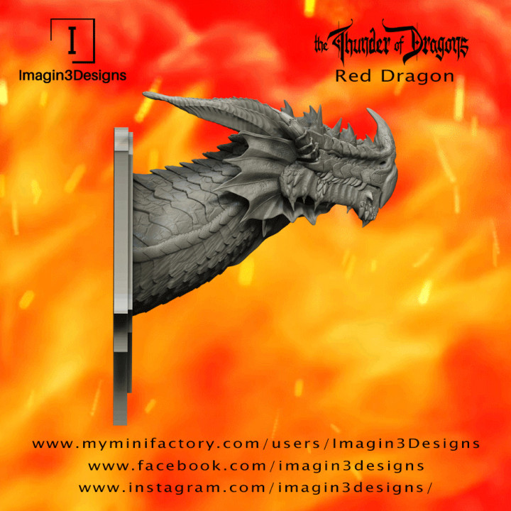 PRE-SUPPORTED Jaxerd'kilmed - The Lord of the Seven Peaks- The Red Dragon's Cover
