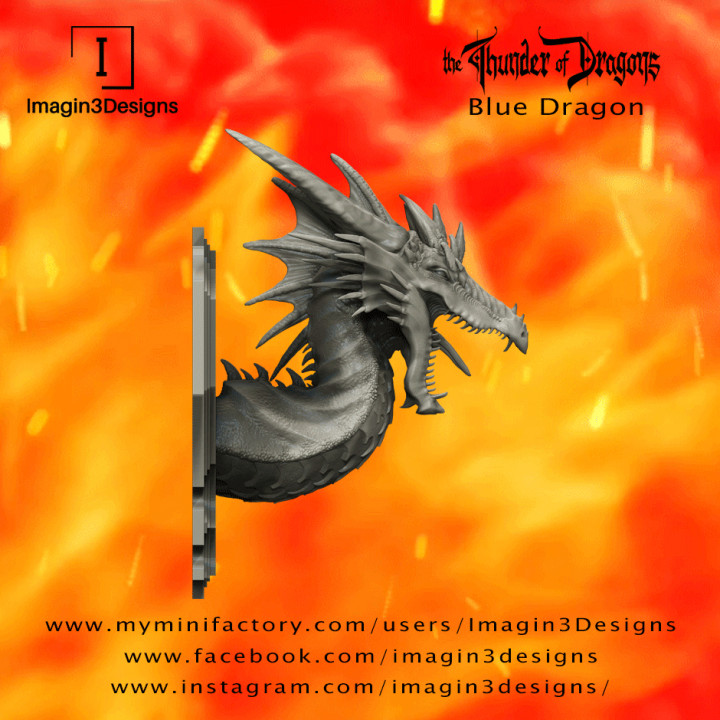 PRE-SUPPORTED Vayex'mogath -Scourge of the Ice Valley- The Blue Dragon's Cover