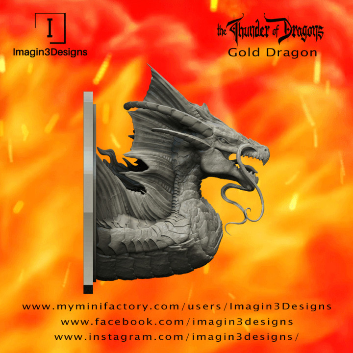 PRE-SUPPORTED Voshaz'imagog -Bringer of the Golden Dawn- The Gold Dragon's Cover