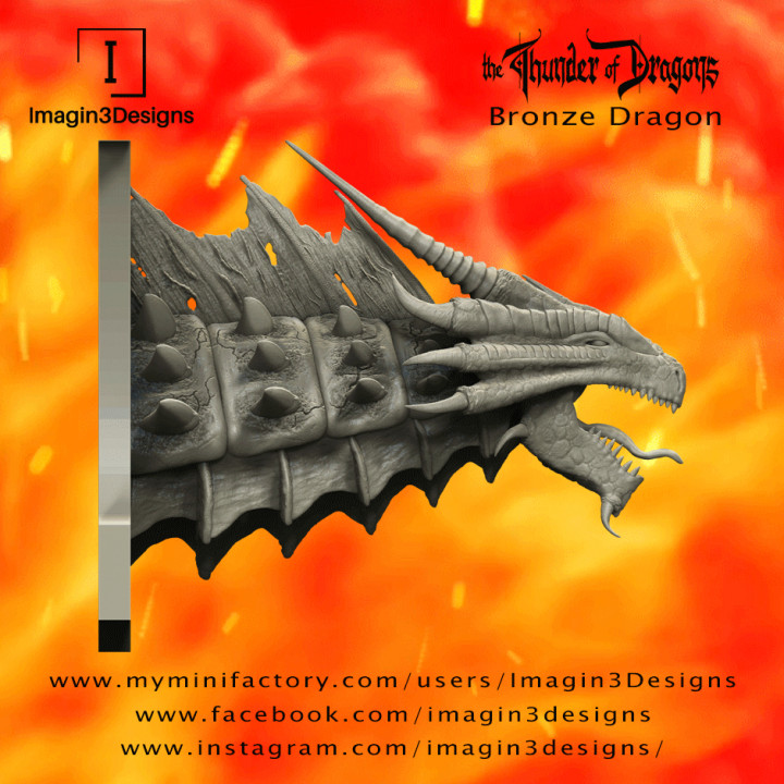 PRE-SUPPORTED Kithon'dathix -Rohkodur Bronzebuckle- The Bronze Dragon's Cover