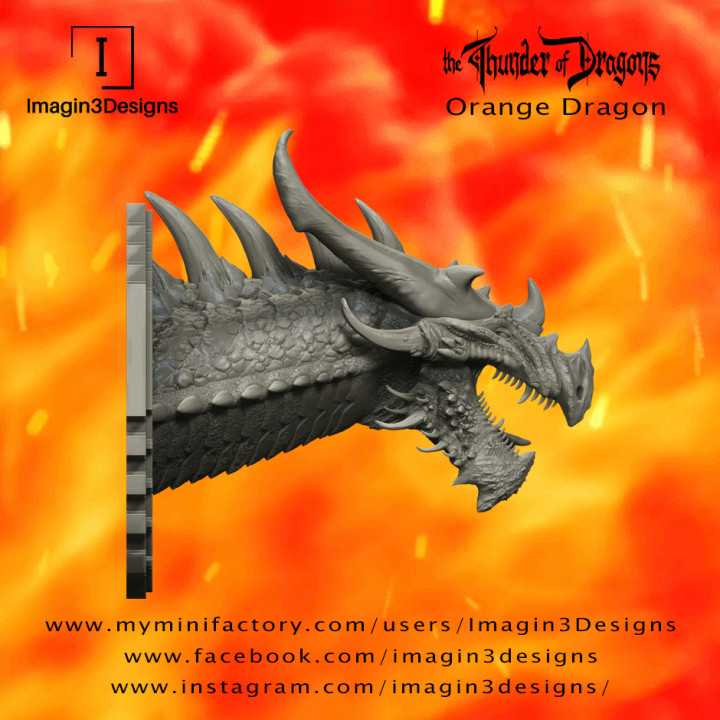 PRE-SUPPORTED Vesx'kilmed -The Corrupted- the Orange Dragon's Cover