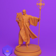 230x230 wizard cleric dnd miniature stl 3d print mini 3d files perspective