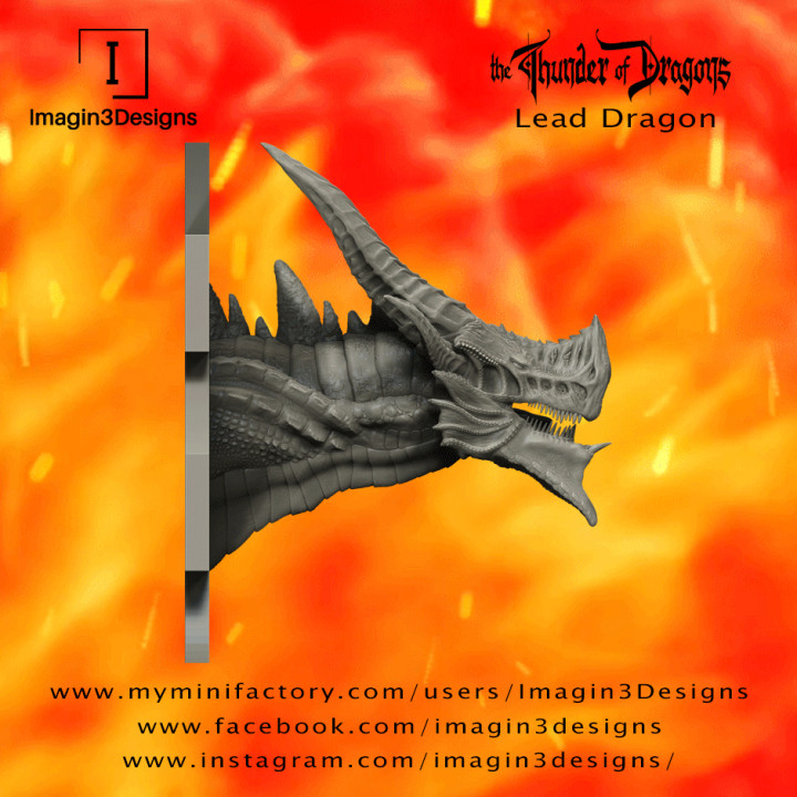PRE-SUPPORTED Jas'inaxis -The Insane- The Lead Dragon's Cover