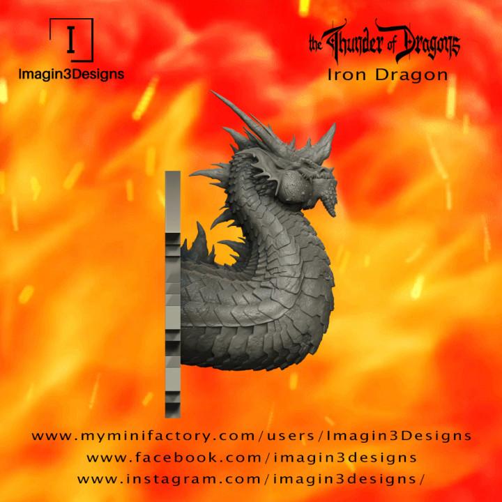 PRE-SUPPORTED Brix'abilax -The Dominate- The Iron Dragon's Cover