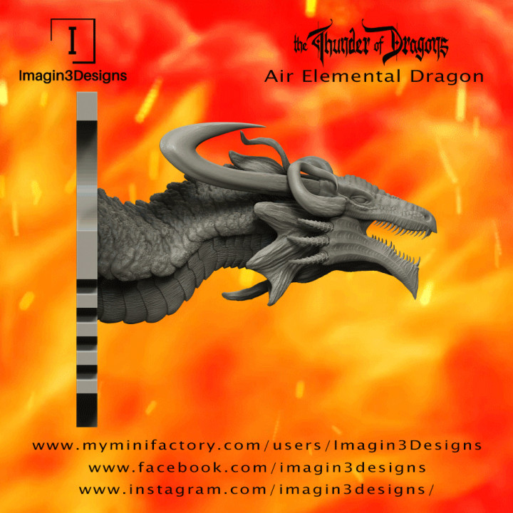 PRE-SUPPORTED Huth'ratix -The Voice of Discord- The Air Elemental Dragon's Cover