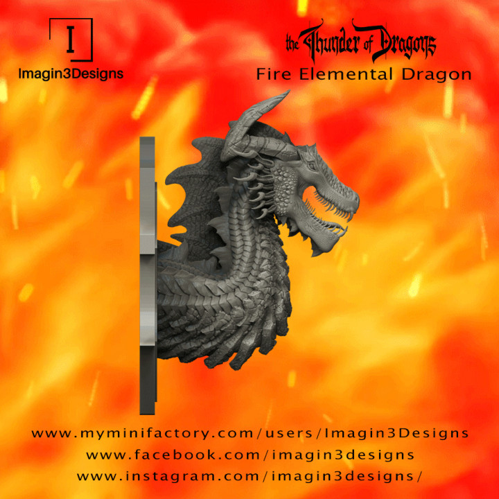 PRE-SUPPORTED Dimintar'axix -The Maelstrom of Flames- The Fire Elemental Dragon's Cover