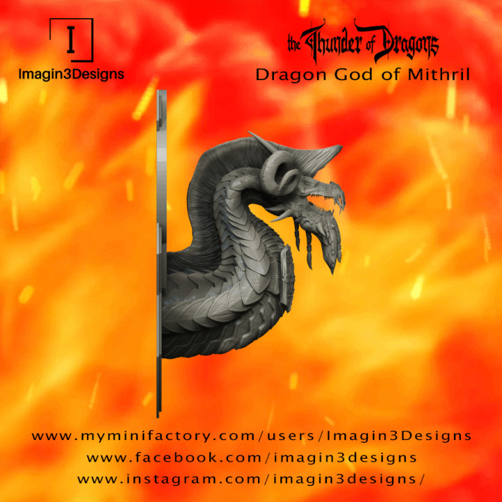 PRE-SUPPORTED Etax'dibashiv -The Furnace of Dhal Thoram- The Dragon God of Mithril's Cover