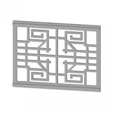 230x230 chinese style small lattice window frame