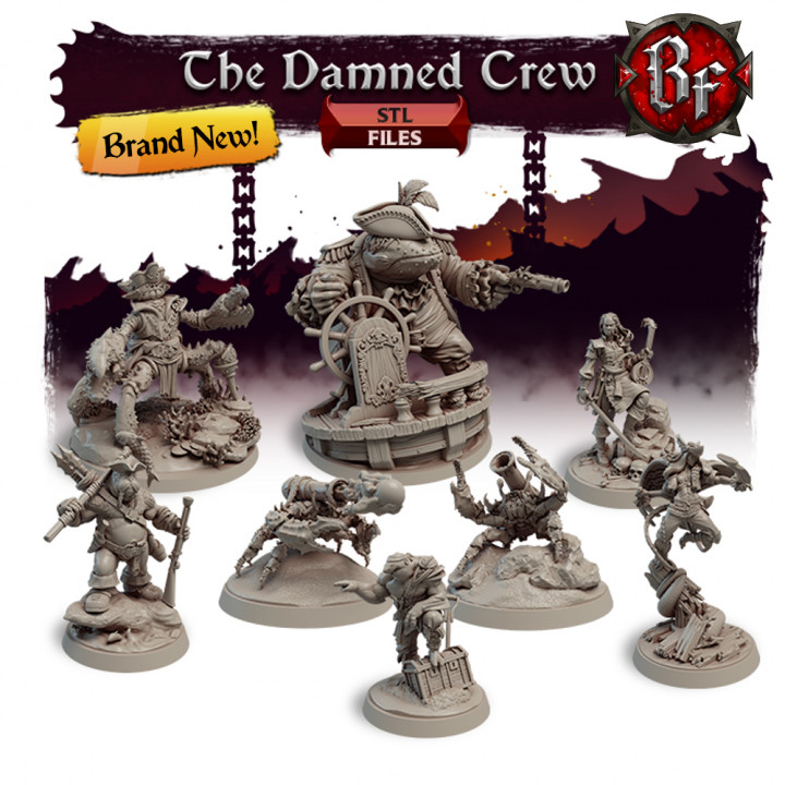 STL The Damned Crew's Cover