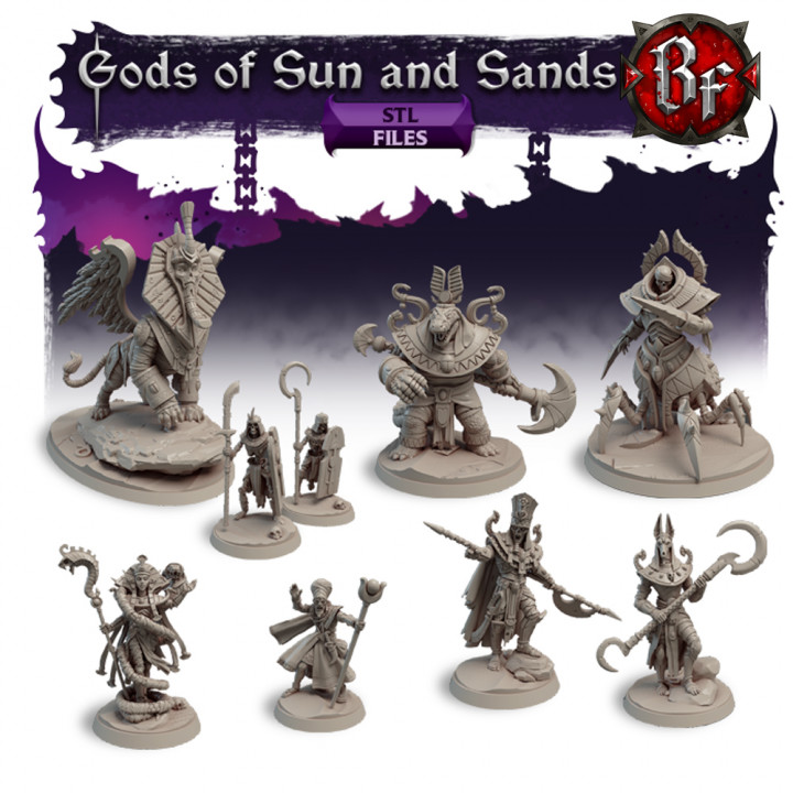 STL Gods of Sun and Sands's Cover