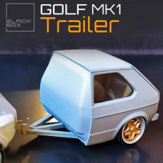 GOLF MK1 TRAILER 1-24 for modelkit and diecast