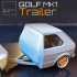 GOLF MK1 TRAILER 1-24 for modelkit and diecast image