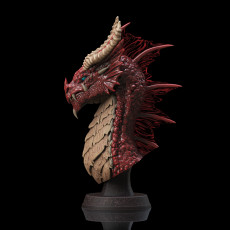 Red Dragon Bust (Pre-Supported)