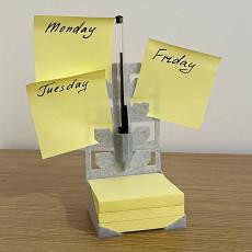 230x230 post it note holder week planner desktop or wall mounted