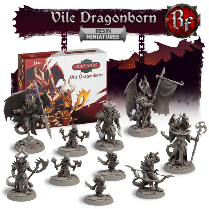 Vile Dragonborn Resin Miniatures Box's Cover