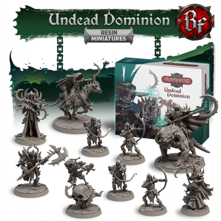 Undead Dominion Resin Miniatures Box's Cover