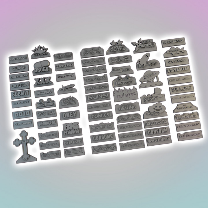 Flatline City: Signage Pack's Cover