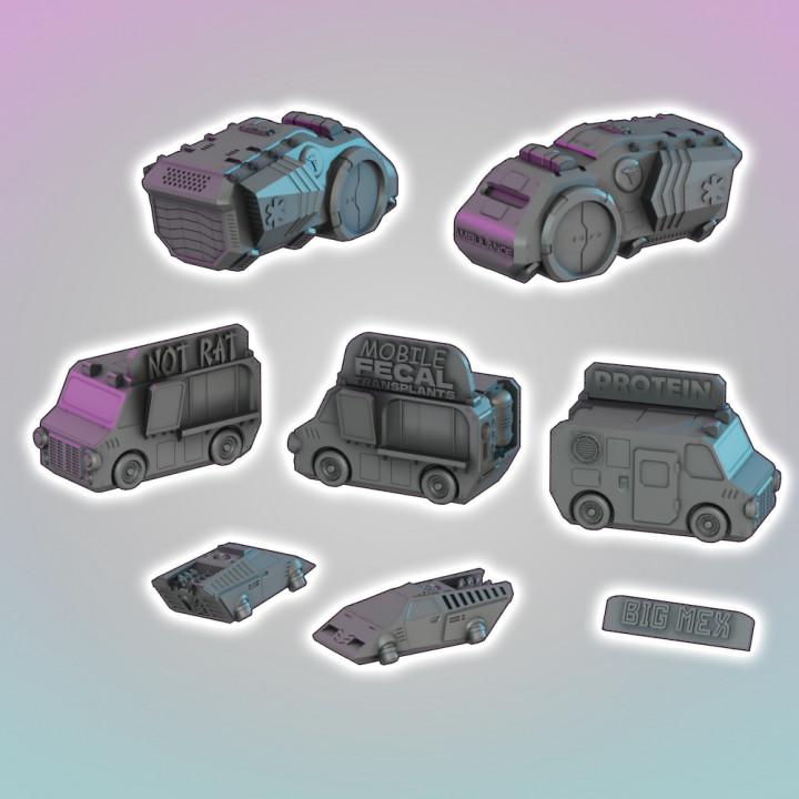 Flatline City: Scifi- Vehicles Pack's Cover