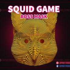 230x230 squid game mask boss mask 3d print model 01