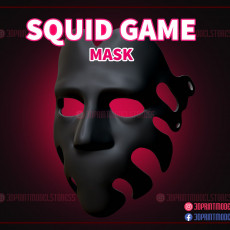 230x230 squid game number 29 mask 3d print model 01