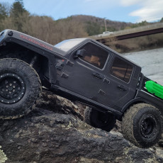 CGRC front and rear fender deletes for Axial SCX10-3 Jeep Gladiator