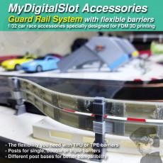 MyDigitalSlot GuardRails, 3D printed DIY accessories for your 1/32 Slot Car Racing Game